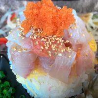 中間市垣生の海鮮丼市場で限定海鮮丼激安ランチ550円!あら汁も付けて大満足!