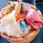 海が見えるレストラン 糸島食堂のテラス席で新鮮な海鮮丼のランチを堪能!