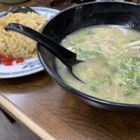 糸島の長浜ラーメン力潤店で麺ランチ!トンコツとやきめしがくせになる!